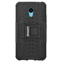 Load image into Gallery viewer, AMZER Shockproof Warrior Hybrid Case for Meizu m2 Note - Black/Black