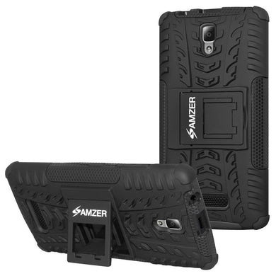 AMZER Shockproof Warrior Hybrid Case for Lenovo A2010 - Black/Black