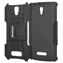 Load image into Gallery viewer, AMZER Shockproof Warrior Hybrid Case for Lenovo A2010 - Black/Black