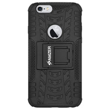 Load image into Gallery viewer, AMZER Shockproof Warrior Hybrid Case for iPhone 6 - Black/Black