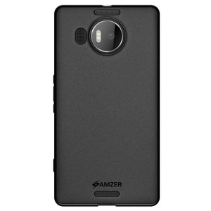 AMZER Ultra Thin Pudding Soft TPU Skin Case for Microsoft Lumia 950 XL - Black