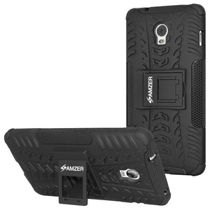 AMZER Shockproof Warrior Hybrid Case for Lenovo Vibe P1 - Black/Black