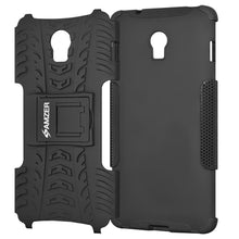 Load image into Gallery viewer, AMZER Shockproof Warrior Hybrid Case for Lenovo Vibe P1 - Black/Black