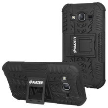 Load image into Gallery viewer, AMZER Shockproof Warrior Hybrid Case for Samsung Galaxy On5 - Black/Black