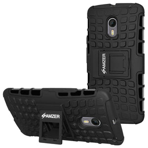 AMZER  Warrior Hybrid Case for Motorola Moto X Pure Edition - Black/Black