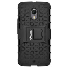 Load image into Gallery viewer, AMZER  Warrior Hybrid Case for Motorola Moto X Pure Edition - Black/Black