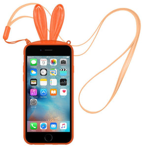 AMZER TPU Case With Rabbit Ears - Orange for iPhone 6