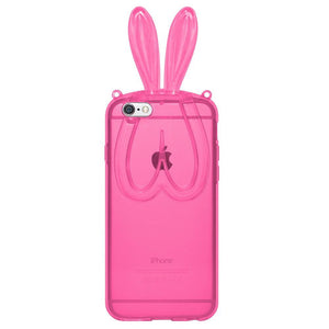 AMZER TPU Case With Rabbit Ears - Pink for iPhone 6 Plus