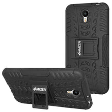 Load image into Gallery viewer, AMZER Shockproof Warrior Hybrid Case for Meizu Metal - Black/Black