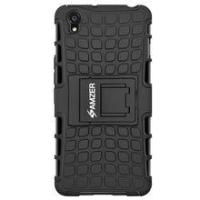 Load image into Gallery viewer, AMZER Shockproof Warrior Hybrid Case for OnePlus X - Black/Black