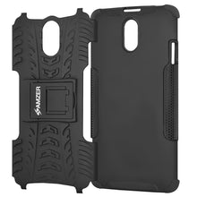 Load image into Gallery viewer, AMZER Shockproof Warrior Hybrid Case for Lenovo VIBE P1m - Black/Black