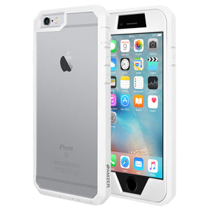 AMZER Full Body Hybrid Case - White for iPhone 6 Plus
