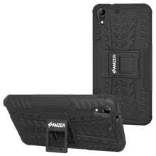 Load image into Gallery viewer, AMZER Shockproof Warrior Hybrid Case for HTC Desire 728 - Black/Black
