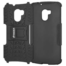 Load image into Gallery viewer, AMZER Shockproof Warrior Hybrid Case for Lenovo A7010 - Black/Black