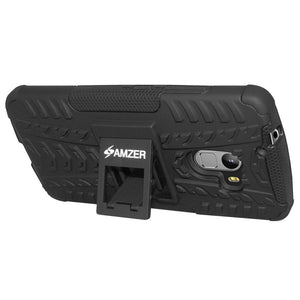 AMZER Shockproof Warrior Hybrid Case for Lenovo A7010 - Black/Black