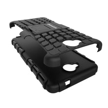 Load image into Gallery viewer, AMZER Shockproof Warrior Hybrid Case for Microsoft Lumia 650 - Black/Black