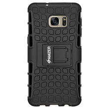 Load image into Gallery viewer, AMZER Shockproof Warrior Hybrid Case for Samsung GALAXY S7 Edge - Black/Black