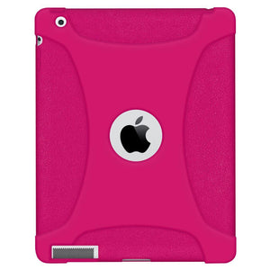 AMZER® Silicone Skin Jelly Case - Hot Pink for iPad 2