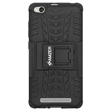 Load image into Gallery viewer, AMZER Shockproof Warrior Hybrid Case for Xiaomi Redmi 3 - Black/Black