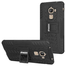 Load image into Gallery viewer, AMZER Shockproof Warrior Hybrid Case for LeEco Le Max - Black/Black