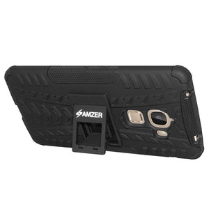 AMZER Shockproof Warrior Hybrid Case for LeEco Le Max - Black/Black
