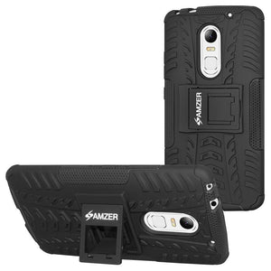 AMZER Shockproof Warrior Hybrid Case for Lenovo Vibe X3 - Black/Black