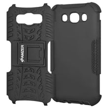 Load image into Gallery viewer, AMZER Shockproof Warrior Hybrid Case for Samsung Galaxy J7 2016 - Black/Black