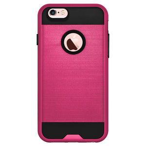 AMZER Hybrid Metto Case - Hot Pink/ Black for iPhone 6