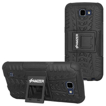 Load image into Gallery viewer, AMZER Shockproof Warrior Hybrid Case for LG K4 - Black/Black
