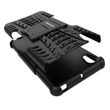 Load image into Gallery viewer, AMZER Shockproof Warrior Hybrid Case for Sony Xperia X - Black/Black