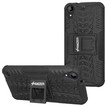 Load image into Gallery viewer, AMZER Shockproof Warrior Hybrid Case for HTC Desire 530 - Black/Black