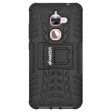 Load image into Gallery viewer, AMZER Shockproof Warrior Hybrid Case for LeEco Le 2 - Black/Black