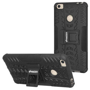 AMZER Shockproof Warrior Hybrid Case for Xiaomi Mi Max - Black/Black