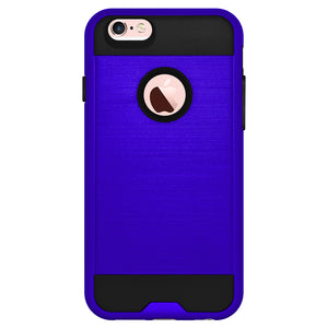 AMZER Hybrid Metto Case - Blue/ Black for iPhone 6 Plus