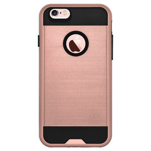 AMZER Hybrid Metto Case - Rose Gold / Black for iPhone 6 Plus
