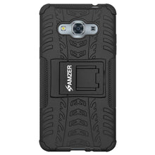 Load image into Gallery viewer, AMZER Shockproof Warrior Hybrid Case for Samsung Galaxy J3 Pro - Black/Black