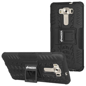 AMZER  Warrior Hybrid Case for Asus Zenfone 3 Deluxe ZS570KL - Black/Black