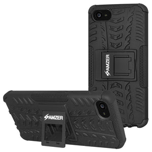 AMZER Shockproof Warrior Hybrid Case for Lenovo Z2 Plus - Black/Black