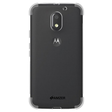 AMZER Pudding TPU X Protection Case - Crystal Clear for Motorola Moto E 3rd Gen
