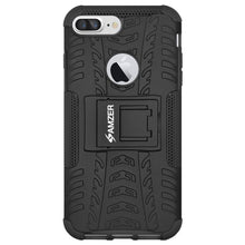 Load image into Gallery viewer, AMZER Shockproof Warrior Hybrid Case for iPhone 7 Plus - Black/Black