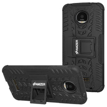 Load image into Gallery viewer, AMZER  Hybrid Warrior Case for Motorola Moto Z Force DROID Edition - Black/Black