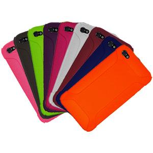 AMZER Skinny Set of 9 silicone Skin Jelly Case for iPhone 4