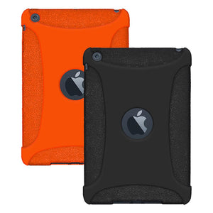 Amzer Silicone Skin Jelly Case Pack of 2 - Black and Orange for Apple iPad mini