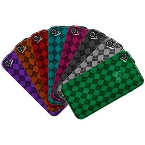AMZER Skinny Set of 8 Luxe Argyle High Gloss TPU Case for iPhone 4S, iPhone 4