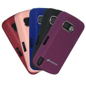 AMZER Skinny Set of 5 silicone Skin Jelly Case for Nokia XpressMusic 5800