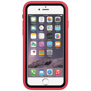 Amzer CRUSTA™ Rugged Case Pale Red on Black Shell with Tempered Glass for iPhone 6s, iPhone 6