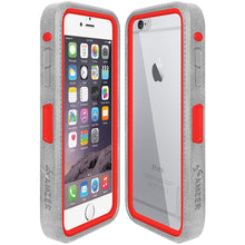 Load image into Gallery viewer, Amzer CRUSTA™ Rugged Case Grey on Red Shell With Tempered Glass for iPhone 6s Plus, iPhone 6 Plus