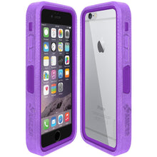 Load image into Gallery viewer, Amzer CRUSTA™ Rugged Case Purple on Purple Shell with Tempered Glass for iPhone 6s, iPhone 6