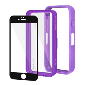 Amzer CRUSTA™ Rugged Case Purple on Purple Shell with Tempered Glass for iPhone 6s, iPhone 6