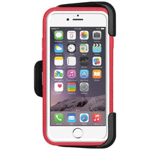 Load image into Gallery viewer, Amzer CRUSTA™ Rugged Case Pale Red on White Shell With Tempered Glass for iPhone 6s Plus, iPhone 6 Plus